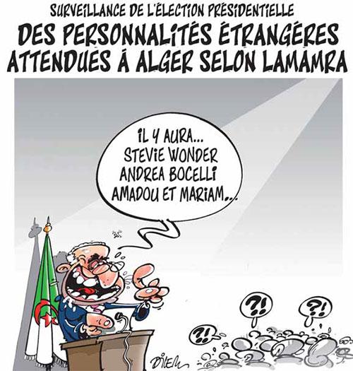 Surveillance de l'élection présidentielle: Des personnalités étrangères attendues à Alger selon Lamamra - Dilem - Liberté - Gagdz.com