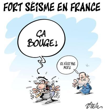 Fort séisme en France : ça bouge - Dilem - TV5 - Gagdz.com