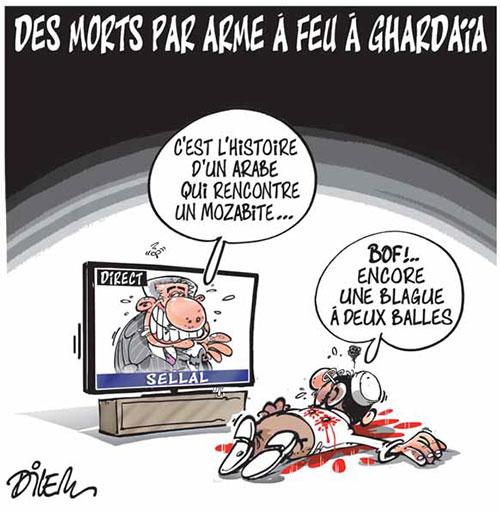 Des morts par arme à feu à Ghardaia - Dilem - Liberté - Gagdz.com