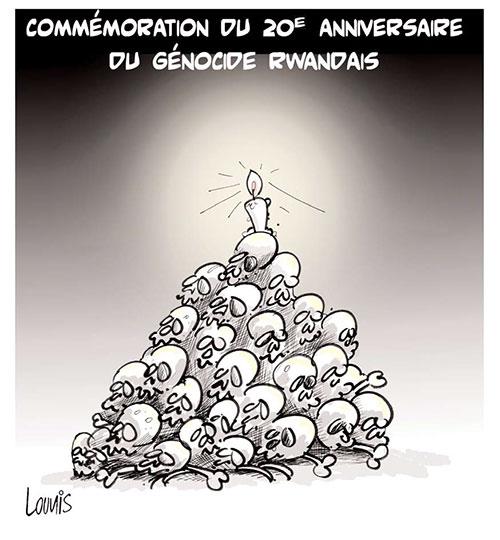 Commémoration du 20e anniversaire du génocide rwandais - Lounis Le jour d'Algérie - Gagdz.com