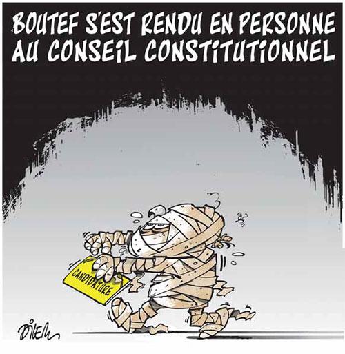 Boutef s'est rendu en personne au conseil constitutionnel - Dilem - Liberté - Gagdz.com