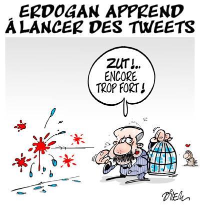 Erdogan apprend à lancer des tweets - Erdogan - Gagdz.com