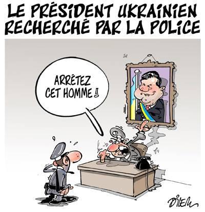 Le président ukrainien recherché pas la police - Ukraine - Gagdz.com