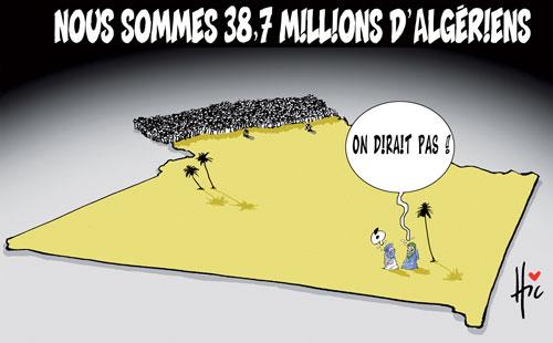 Nous sommes 38,7 millions d'algériens - Le Hic - El Watan - Gagdz.com