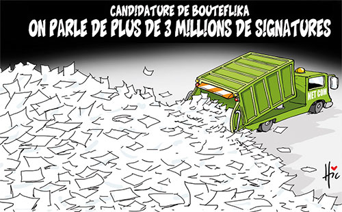 Candidature de Bouteflika: On parle de plus de 3millions de signatures - Le Hic - El Watan - Gagdz.com