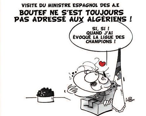Visite du ministre espagnol des A.E: Boutef ne s'est toujours pas adressé aux algériens - Vitamine - Le Soir d'Algérie - Gagdz.com