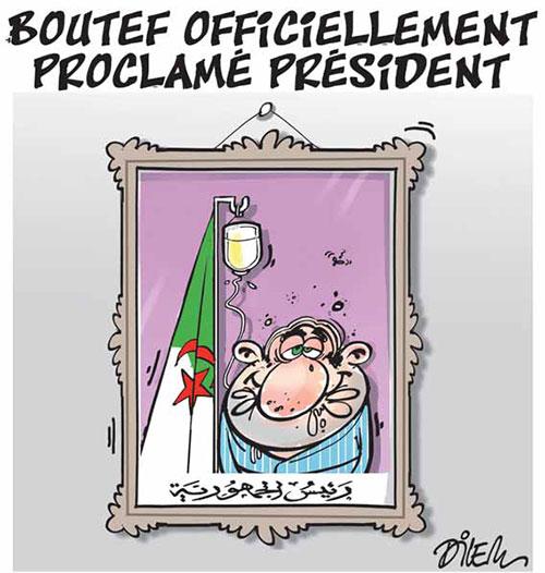Boutef officiellement proclamé président - Dilem - Liberté - Gagdz.com