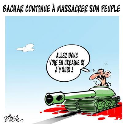 Bachar continue a massacrer son peuple - Dilem - TV5 - Gagdz.com