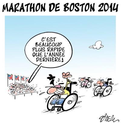 Marathon de Boston - Dilem - TV5 - Gagdz.com