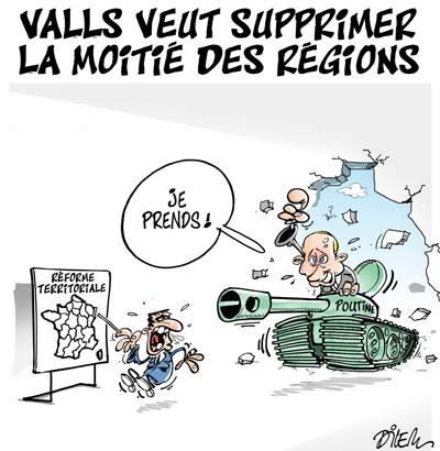 Valls veut supprimer la moitié des régions - Dilem - TV5 - Gagdz.com