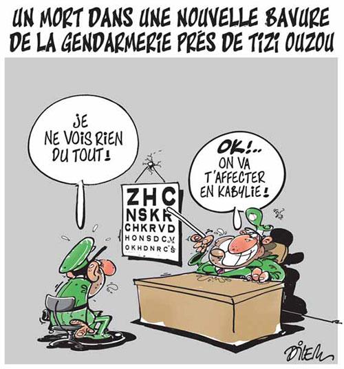 Un mort dans une nouvelle bavure de la gendarmerie près de Tizi Ouzou - Dilem - Liberté - Gagdz.com