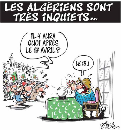 Les Algériens sont très inquiets - Dilem - Liberté - Gagdz.com