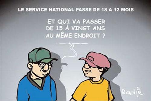 Le service national passe de 18 à 12 mois - Ghir Hak - Les Débats - Gagdz.com
