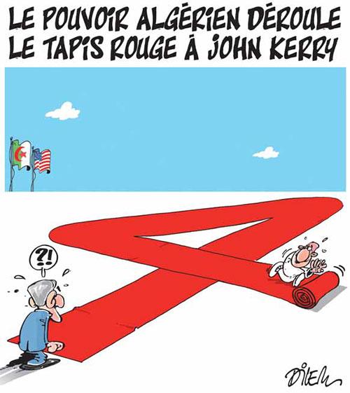 Le pouvoir algérien déroule le tapis rouge à John Kerry - Dilem - Liberté - Gagdz.com