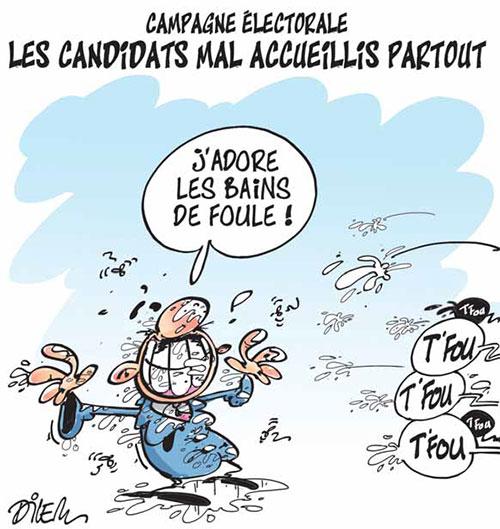 Campagne électorale: Les candidats mal accueillis partout - Dilem - Liberté - Gagdz.com