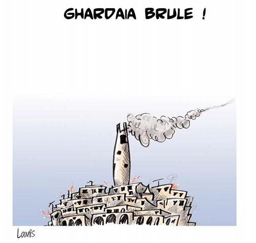 Ghardaia brule - Lounis Le jour d'Algérie - Gagdz.com
