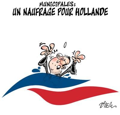 Municipales : un naufrage pour Hollande - Dilem - TV5 - Gagdz.com