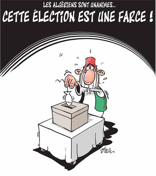 Les Algériens sont unanimes: Cette élection est une farce - Dilem - Liberté - Gagdz.com