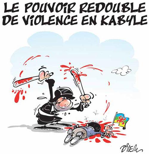 Le pouvoir redouble de violence en Kabyle - Dilem - Liberté - Gagdz.com