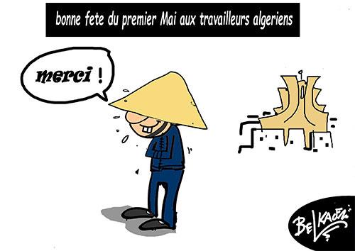 Bonne fête du premier mai aux travailleurs algériens - Belkacem - Le Courrier d'Algérie - Gagdz.com