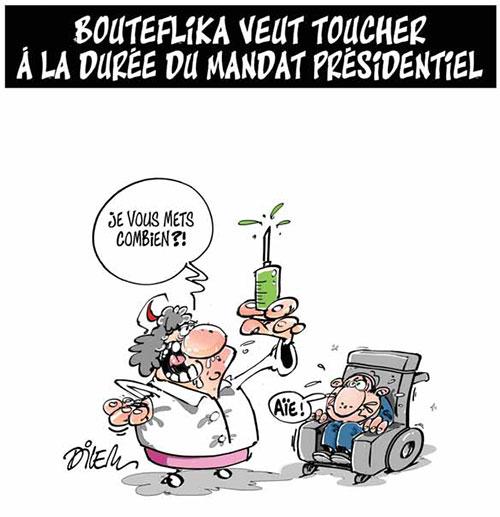 Bouteflika veut toucher à la durée du mandat présidentiel - Dilem - Liberté - Gagdz.com