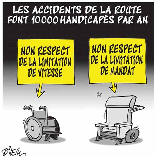 Les accidents de la route font 10 000 handicapés par an - Dilem - Liberté - Gagdz.com