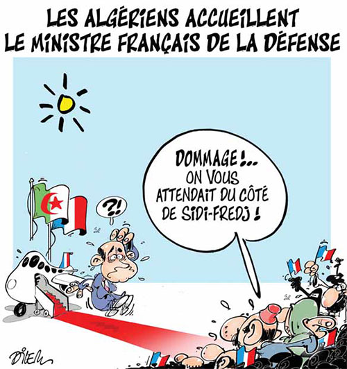 Les Algériens accueillent le ministre français de la défense - Dilem - Liberté - Gagdz.com