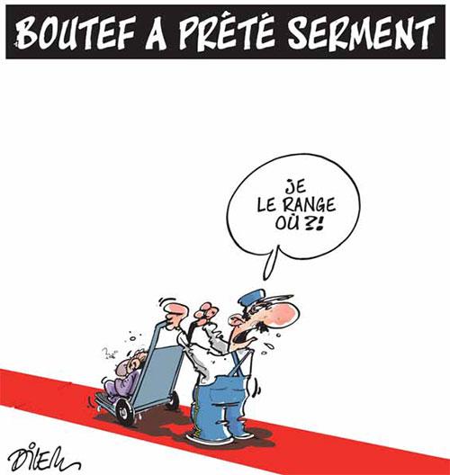 Boutef a prêté serement - Dilem - Liberté - Gagdz.com