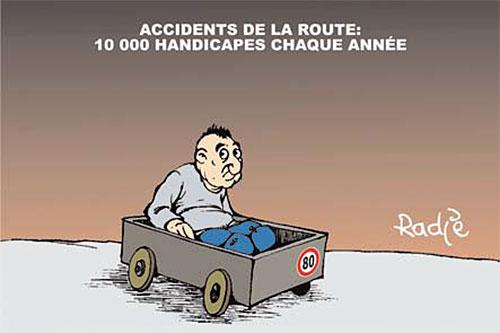 Accidents de la route: 10 000 handicapés chaque année - Ghir Hak - Les Débats - Gagdz.com