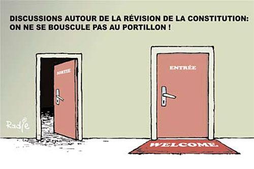 Discution autour de la révision de la constitution: On ne se bouscule pas au portillon - Ghir Hak - Les Débats - Gagdz.com