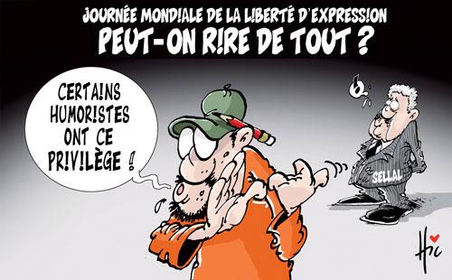 Journée mondiale de la liberté d'expression: Peut-on rire de tout ? - Le Hic - El Watan - Gagdz.com