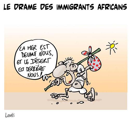 Le drame des immigrants africains - Lounis Le jour d'Algérie - Gagdz.com