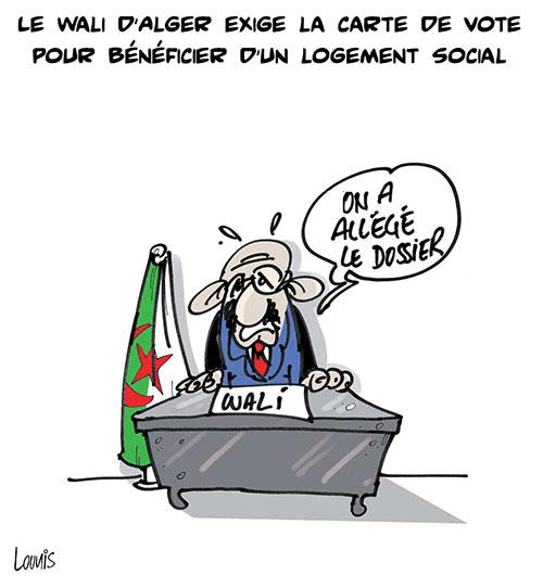 Le wali d'Alger exige la carte de vote pour bénéficier d'un logement social - Lounis Le jour d'Algérie - Gagdz.com