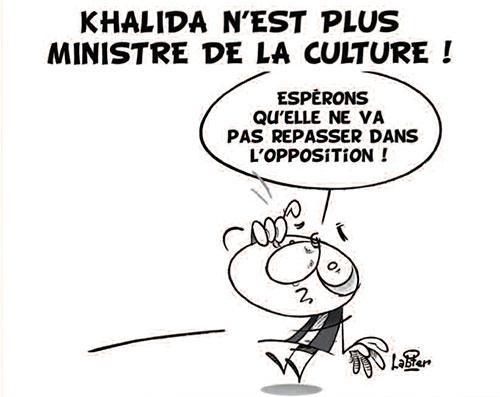 Khalida n'est plus ministre de la culture - Khalida Toumi - Gagdz.com