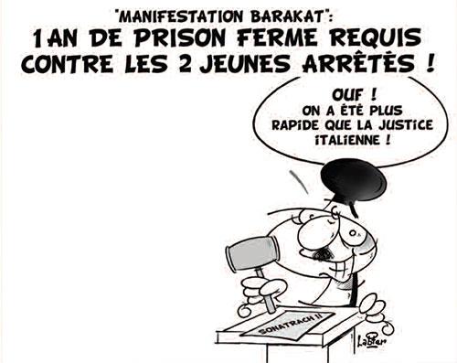 Manifestation barakat: 1 an de prison ferme requis contre les 2 jeunes arrêtés - Vitamine - Le Soir d'Algérie - Gagdz.com
