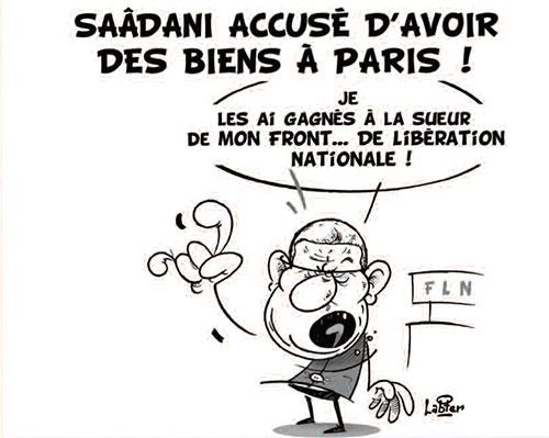 Saâdani accusé d'avoir des biens à Paris - Vitamine - Le Soir d'Algérie - Gagdz.com