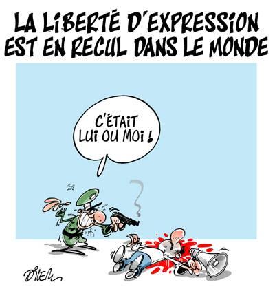 La liberté d'expression est en recul dans le monde - Dilem - TV5 - Gagdz.com