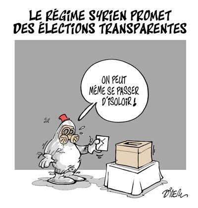 Le régime syrien promet des élections transparentes  - Dilem - TV5 - Gagdz.com