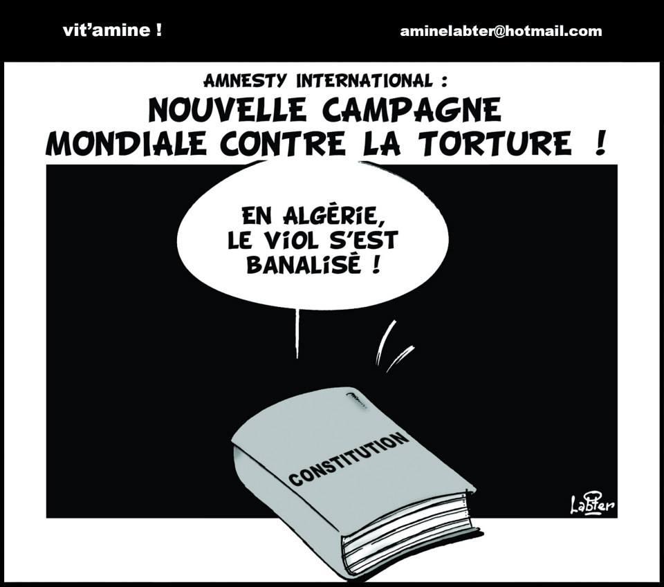 Amnesty international: Nouvelle campagne mondiale contre la torture - Vitamine - Le Soir d'Algérie - Gagdz.com