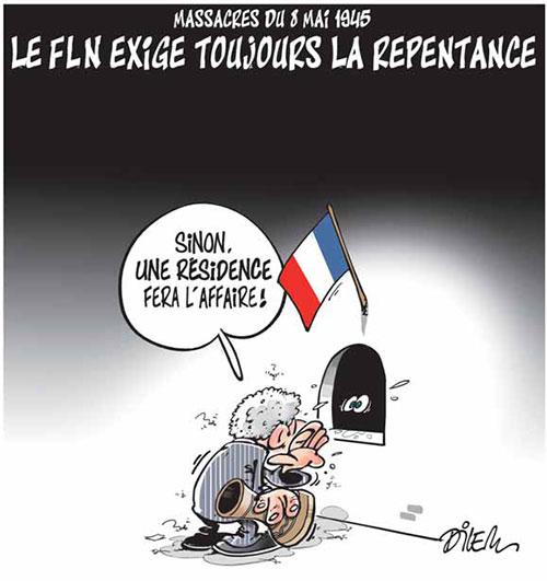 Massacre du 8 mai 1945: Le fln éxgige toujours la repentance - Dilem - Liberté - Gagdz.com