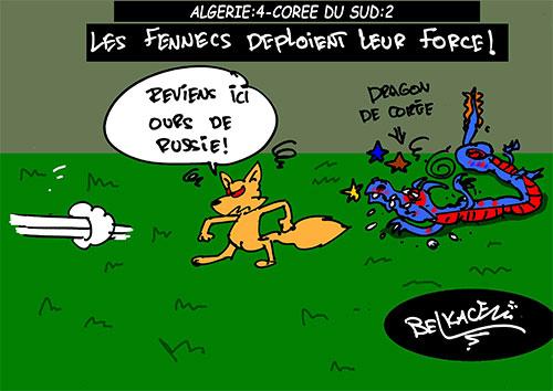 Algérie 4 - Corée du sud 2: Les fennecs deploient leur force - Belkacem - Le Courrier d'Algérie - Gagdz.com