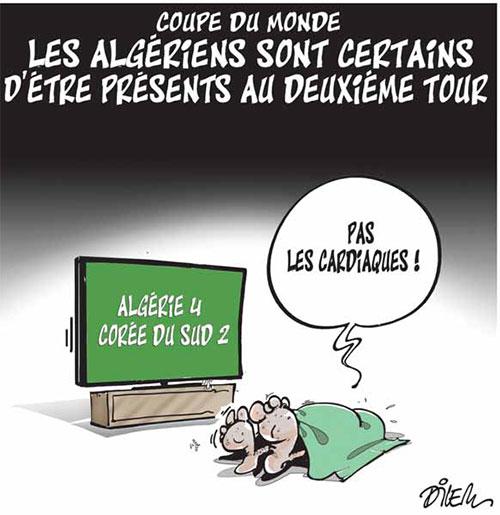 Coupe du monde: Les Algériens sont certains d'être présents au deuxième tour - Dilem - Liberté - Gagdz.com