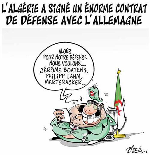 L'Algérie a signé un énorme contrat de défense avec l'Allemagne - Dilem - Liberté - Gagdz.com