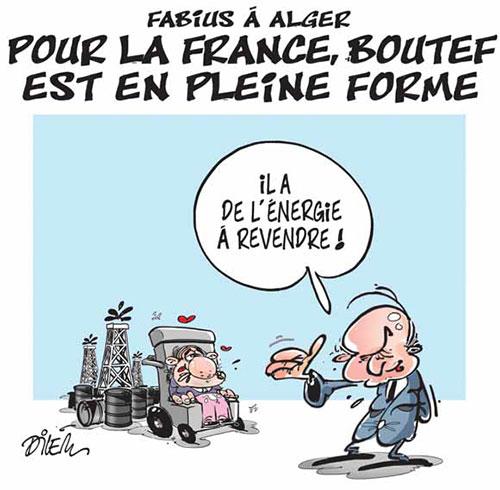 Fabius à Alger: Pour la France, Boutef est en pleine forme - Dilem - Liberté - Gagdz.com