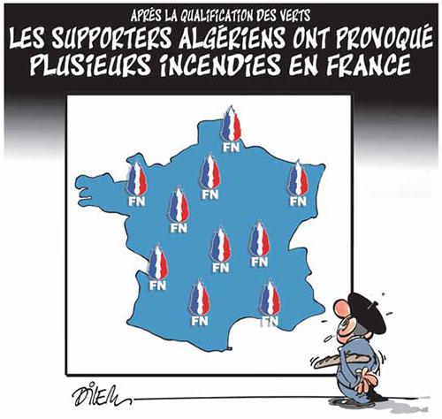 Après la qualification des verts: Les supporters algériens ont provoqué plusieurs incidents en France - qualification - Gagdz.com