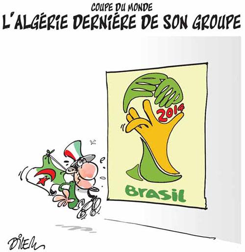 Coupe du monde: L'Algérie dernière de son groupe - Dilem - Liberté - Gagdz.com