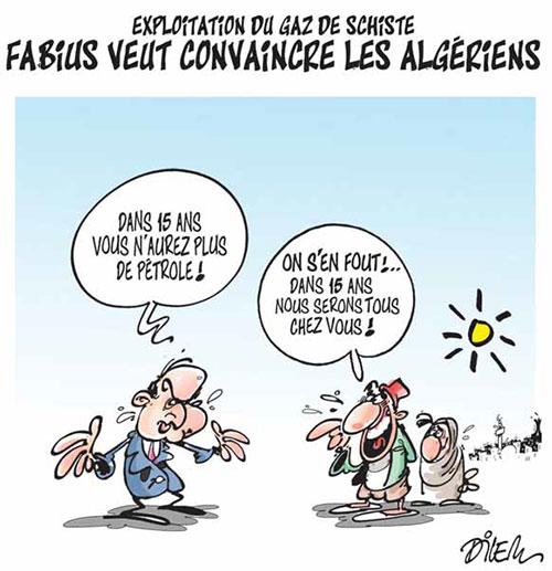Expoitation du gaz de schiste: Fabius veut convaincre les Algériens - Fabius - Gagdz.com