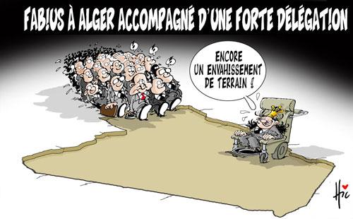 Fabius à Alger accompagné d'une forte délégation - Fabius - Gagdz.com