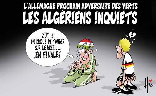 L'Allemagne prochain adversaire des verts: Les Algériens inquiets - Le Hic - El Watan - Gagdz.com