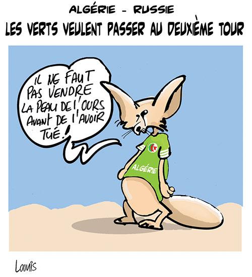 Algérie - Russie: Les verts veulent passer au deuxième tour - Lounis Le jour d'Algérie - Gagdz.com